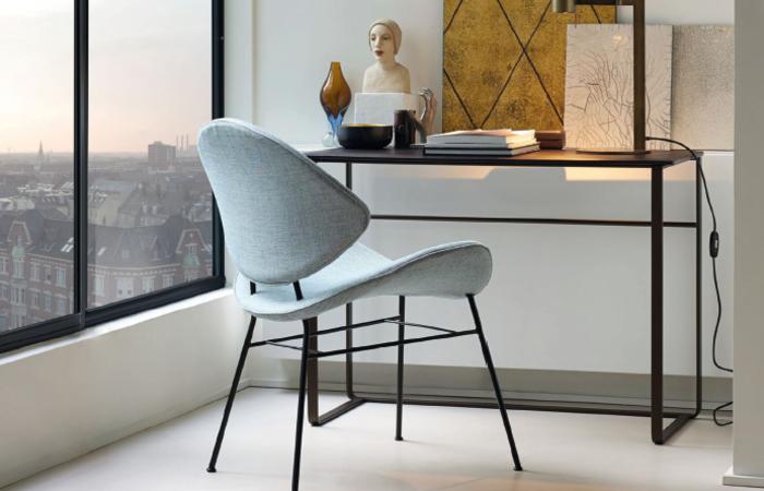 Kleine und elegante Lösung von Walter Knoll: Fishnet Chair mit Yuuto Tischchen